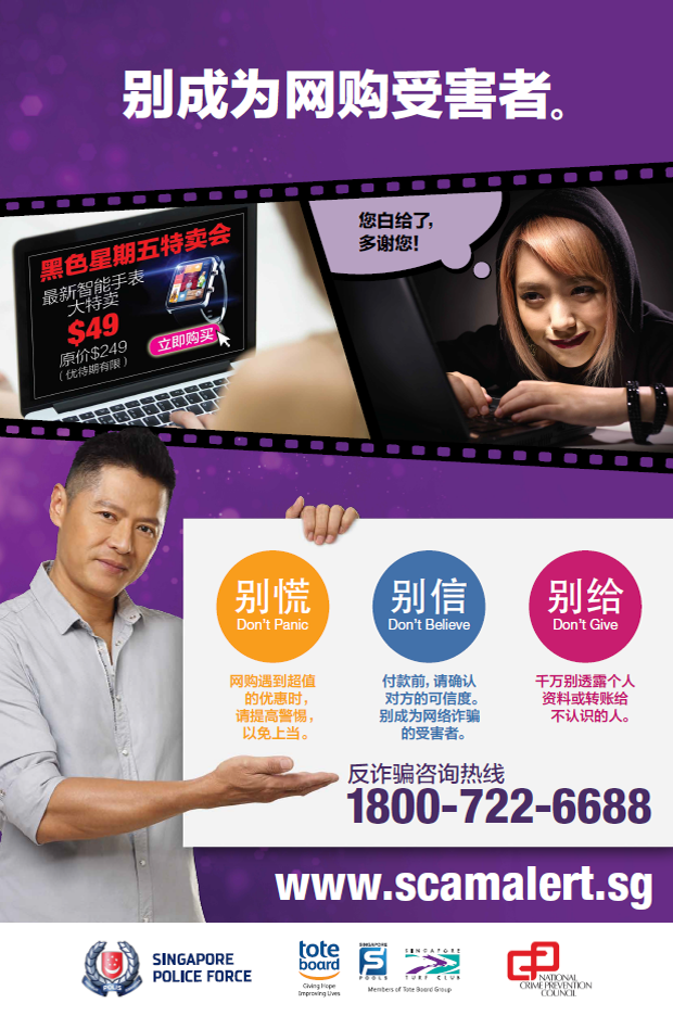 Don't Get Cheated Online - Chinese